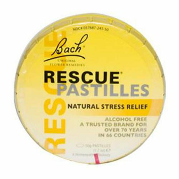 Bach Flower Remedies Rescue Remedy Pastilles Orange Elderflower 1.7 oz Case of 12