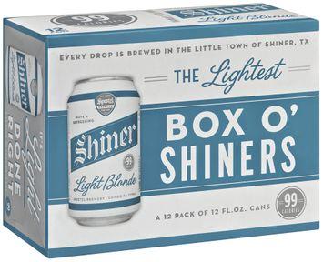 Shiner Light Blonde Box O' Shiners Beer 12 Pk Cans