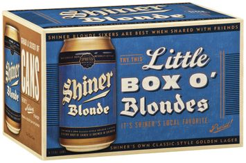 Shiner Blonde Little Box O' Blondes Beer 6 Pk Cans