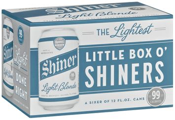 Shiner Light Blonde Little Box O'shiners  Beer 6 Pk Cans
