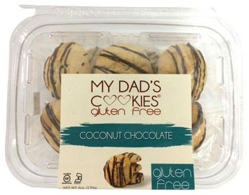 My Dad's Cookies Gluten Free Cookies Coconut Chocolate 6 oz