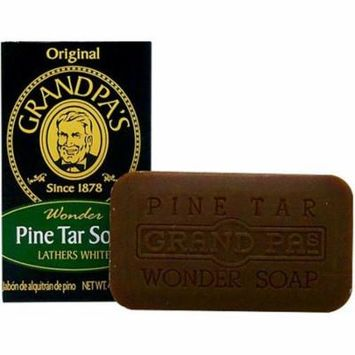Grandpas 0528778 Pine Tar Bar Soap, 4.25 oz