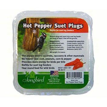 Songbird Essentials SESC109 Songbird Suet Plugs - Hot Pepper