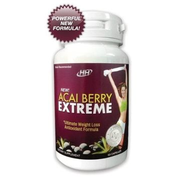 Hh Nutritionals Acai Berry Extreme - Powerful New Formula: All-In-One Weight Loss, Colon Cleanse, Antioxidant, Appetite Suppressant, Metabolism Booster Diet Pill Formula