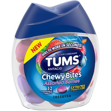 Tums® Chewy Bites Assorted Berries Antacid Chewable Tablets 32 ct Bottle