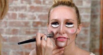5 Minute Halloween Tutorial Puppet Makeup
