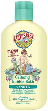Earths Best Calming Bubble Bath Scent Vanilla 12 Oz