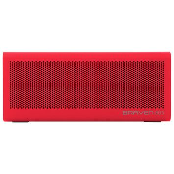 BRAVEN - 805 Portable Bluetooth Speaker - Red/Gray