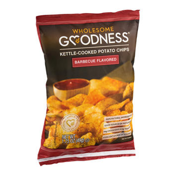 Wholesome Goodness Kettle-Cooked Potato Chips Barbecue Flavored