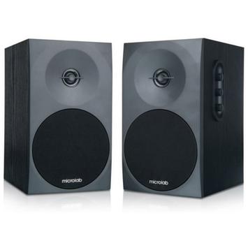 Microlab B70 2.0 Two-Way Bookshelf Stereo Speaker, Black