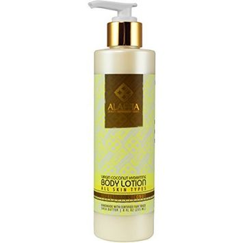 Alaffia- Virgin Coconut Hydrating Body Lotion, Refreshing Coconut- 8 oz