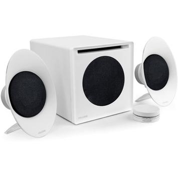 Microlab FC50 54W Near-Field Enclosure-Free 2.1 Hi-Performance Speaker, White