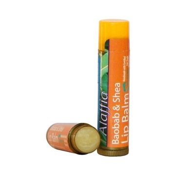 Alaffia Shea & Baobab Lip Balm Orange-Mint 0.15 oz