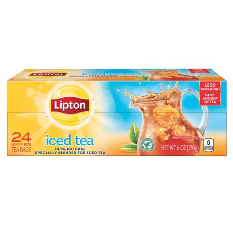 Lipton® Iced Black Tea Family Size Tea Bags