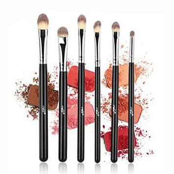 MSQ Eye Brushes 6pcs Eyeshadow Set Eyebrow Brush Makeup Brushes Eyeliner Brush for Eyeshadow, Eyebrow, Eyeliner, Blending, Concealer-Black