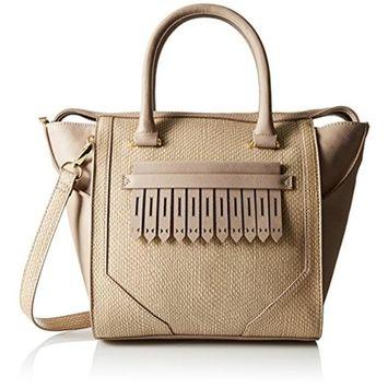 Danielle Nicole Womens Journee Faux Leather Snake Print Tote Handbag