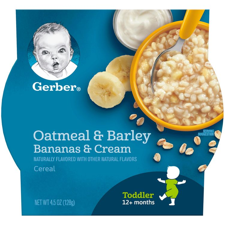 Gerber Oatmeal & Barley, Bananas & Cream Cereal, 4.5oz