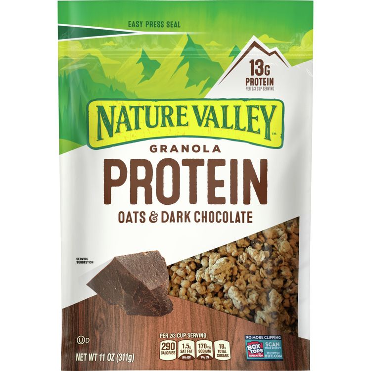 Nature Valley Granola, Protein, Oats and Dark Chocolate, 11 oz pouch