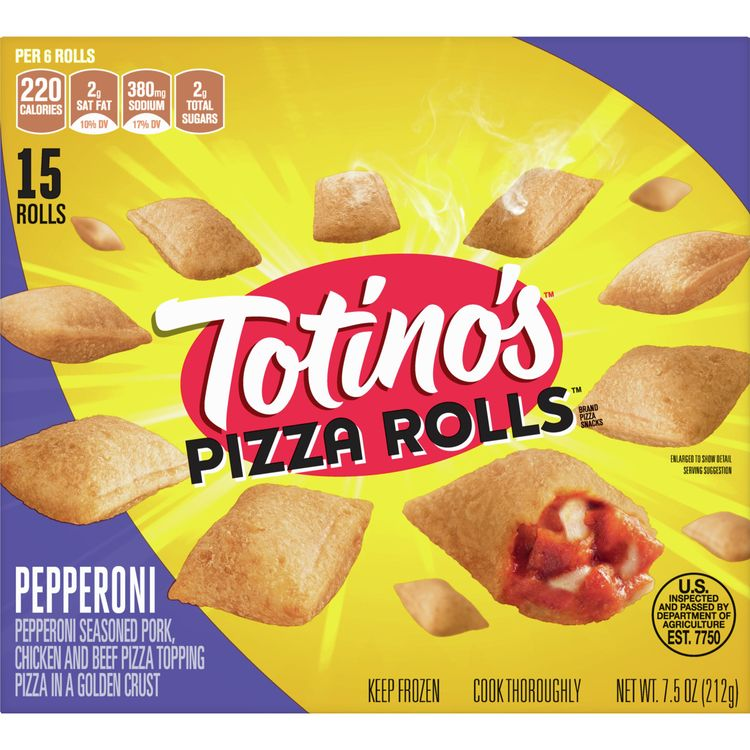 Totino's Frozen Pizza Rolls, Pepperoni, 15 rolls