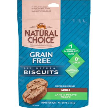 Nutro® Natural Choice® Adult Grain Free Lamb & Potato Recipe All Natural Dog Biscuits