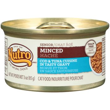 Nutro® Senior Minced Cod & Tuna Cuisine In Tasty Gravy Cat Food