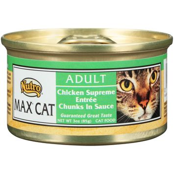 Nutro® Max® Cat Adult Chicken Supreme Entrée Chunks In Sauce Cat Food
