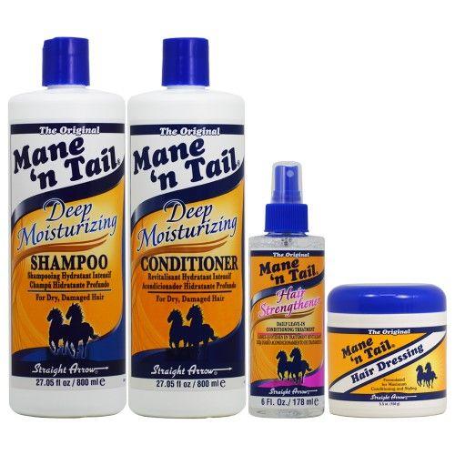 Mane 'n Tail Deep Moisturizing Shampoo + Conditioner 27.05oz + Hair Strengthener + Hair Dressing 4 pc Combo