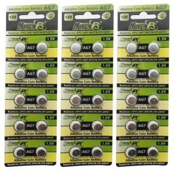 HyperPS (30 pcs) AG7 Alkaline 1.5V Button Cell Battery Single Use LR927 LR57 SR927W 399 GR927 G7 Watch Toys Remotes Cameras