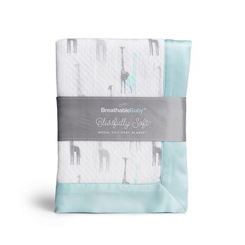 BreathableBaby Blissfully Soft Modal Knit Baby Blanket - Solid Gray [Solid]