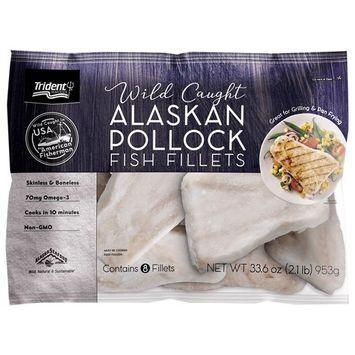 Trident Seafoods Alasakan Pollock Fillet Portion, 2.1 lbs (Frozen)
