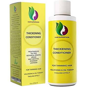 Anti-Dandruff Treatment Hair Conditioner for Hair Loss Dry Hair + Flaking Scalp - Antifungal Tea Tree Scalp Treatment for Itchy + Thinning Hair - Improve Scalp Health + Promote Growth - Sulfate Free