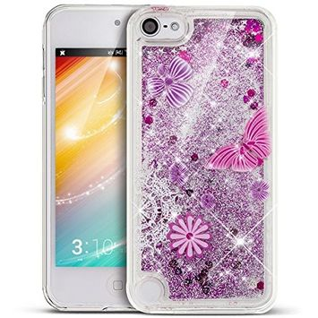 UCLL Iphone 7 Pluls Case, Lovely Pattren Design Flowing Liquid Bling Glitter Solft Case for 5.5 inch Iphone 7 Plus with a free Screen Protector Ultra Slim Case