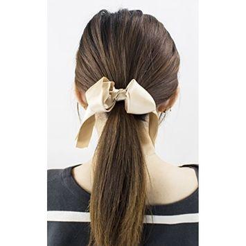 StylesILove Stylish Womens Girls 2 Layers Satin Ribbon Bow Hair Band Hair Tie