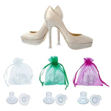 TOODOO 12 Pairs Heel Stoppers High Heel Protectors for Women's Shoes, Small/Middle/ Large, Transparent