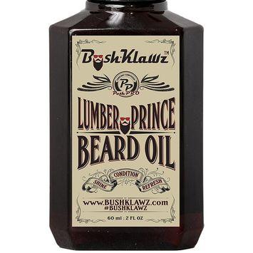 Lumber Prince Beard Oil Conditioner Premium Beard Moisturizer Manly Woodsy Musk Scent 2 oz - Best Lumberjack Beard Oil for Bearded Men