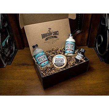 Himalayan Ascent Sandalwood Aftershave Splash, Lotion/Balm, Shave Soap & Pre-Shave Oil Bundle Gift Set