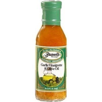 Braswell Garlic Vinaigrette with Olive Oil 12 oz Bottle (Pack of 3)
