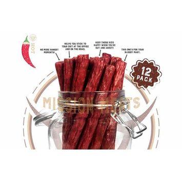 Hoppin' Habanero Grass-Fed Beef Sticks Gluten Free MSG Free Nitrate Nitrite Free Paleo Snacks Keto Healthy Natural Meat Sticks [Hoppin' Habanero Grass Fed Beef]