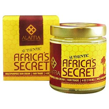 Alaffia - Africa's Secret, Handcrafted Multipurpose Cream to Help Moisturize, Soften, and Protect Skin with Shea Butter, Bee Propolis, Coconut and Baobab Oil, Fair Trade, Ethically Crafted, 4 Ounces