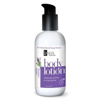 BV Spa by Bon Vital' Moisturizing Body Lotion, Lavender Rosemary Scented Body Silk for Dry Skin Repair, Anniversary Gift for Women, Moisturizer with Essential Oils for Soft Skin