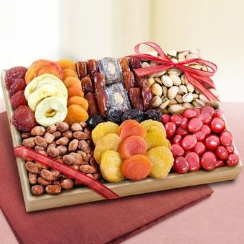 Sweet Extravagance Dried Fruits and Nuts Tray [Fruit Nuts & Sweets]