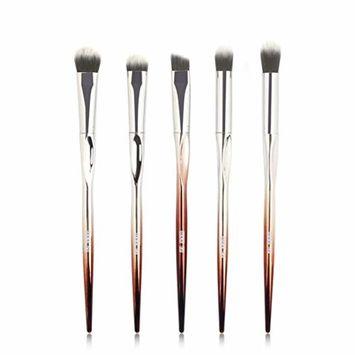 Start_wuvi Makeup Brushes 5PCS Makeup Brush Set Premium Synthetic Blending Eyeshadow Brush Face Powder Blush Concealers Foundation Make Up Brushes Kit