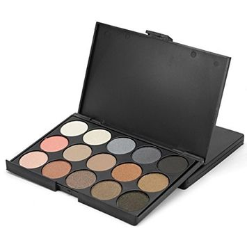Eye Shadow,SMTSMT 15 Colors Women Cosmetic Makeup Neutral Nudes Warm Eyeshadow Palette
