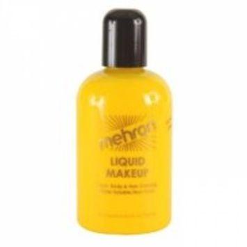Mehron Liquid Makeup 4.5 oz Fluorescent Lime