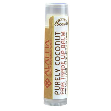 Alaffia Everyday Coconut Fair Trade Lip Balm Purely Coconut -- 0.15 oz