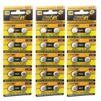 HyperPS (30 pcs) AG3 Alkaline 1.5V Button Cell Battery Single Use LR41 192 SR736 V36A 384 SR41SW Watch Toys Remotes Cameras