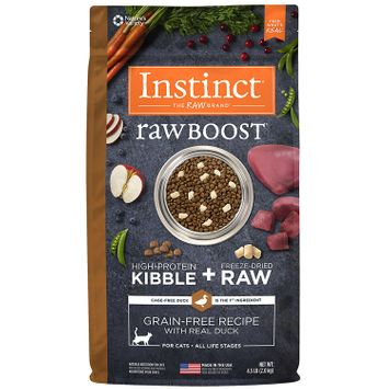 Natures Variety Instinct Nature's Variety Instinct Raw Boost Cat Food - Natural, Grain Free, Freeze Dried Raw, Duck