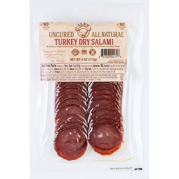 Uncured All Natural Turkey Dry Salami ( 3 packages 4 oz. each)