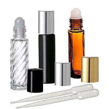 3 - Refillable Roll On Perfume Bottles