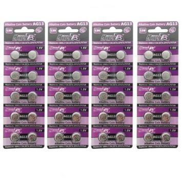 HyperPS (40 pcs) AG13 Alkaline 1.5V Button Cell Battery Single Use LR44 A76 G13R S76E MS76H MS76 Watch Toys Remotes Cameras